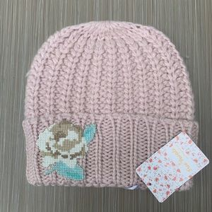 Free People Pink Everything Rosy Cable Knit Beanie